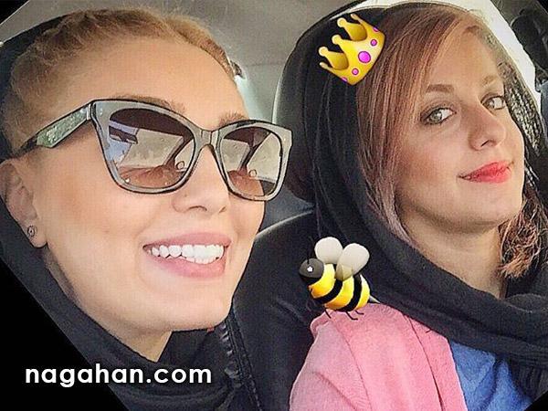 عکس های دیده نشده و خصوصی سحر قریشی به همراه دوست صمیمی اش در خارج از کشور