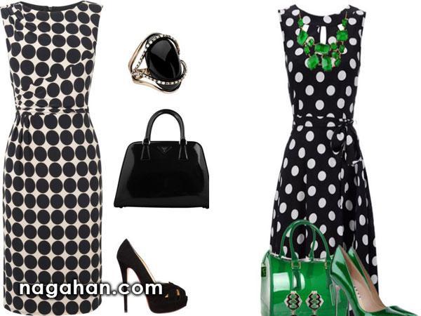 کالکشن جدید مدل ست لباس مجلسی طرح خالدار |ایده های نو برای طراحی لباس و خیاطی