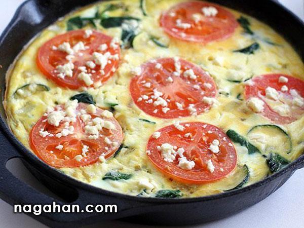 دستور تهیه املت گوجه فرنگی و اسفناج مخصوص گیاهخواران – رژیم غذایی کم کالری