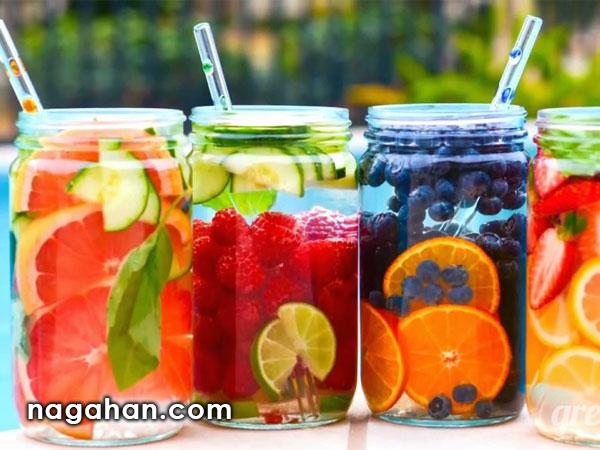انواع آب طعم دار یا دتاکس واتر معجزه لاغری ،کاهش دهنده استرس و سم زدایی بدن
