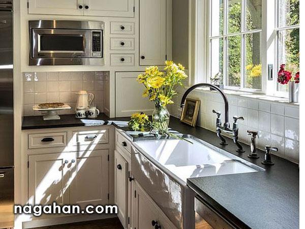 ایده های نو در طراحی آشپزخانه های کوچک | دیزاین مدرن ، شیک و ساده آشپزخانه