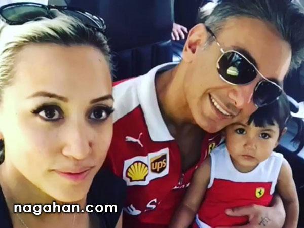 جدیدترین عکس شادمهر عقیلی به همراه همسر و دخترش ملینا