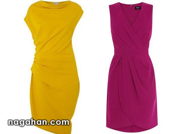 مدل پیراهن های رنگ روشن و تیره دخترانه و زنانه ویژه تولد ، مهمانی و عروسی
