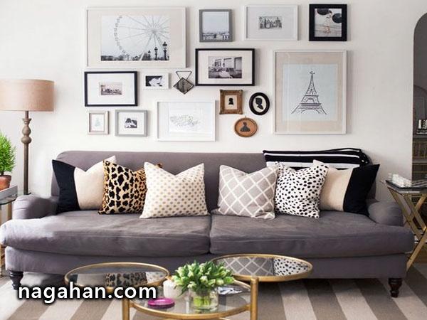 چگونه دیوار خالی خانه را با قاب عکس تزیین کنیم؟