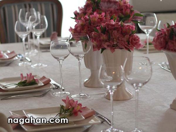 سفره آرایی و تزئین میز نهار و شام عروسی و تولد