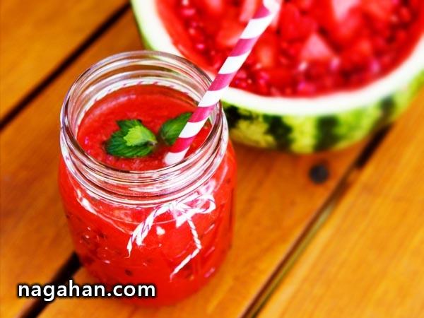 طرز تهیه خیلی ساده و خلاقانه آب هندوانه طبیعی