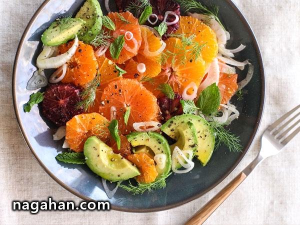 دستور تهیه سالاد میوه، مناسب برای گیاهخواران!