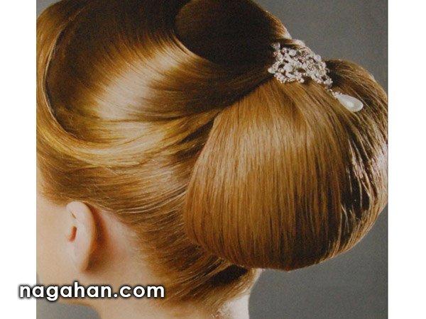 آموزش شینیون ساده مو مناسب مجالس عروسی، تولد و میهمانی + ویدیو مدل مو