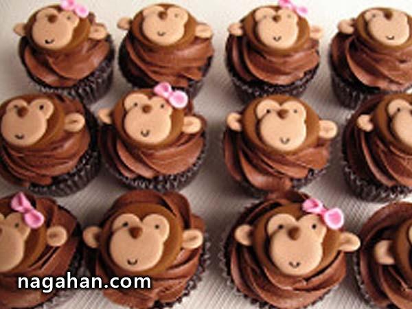 تزئین کاپ کیک میمون به مناسبت نوروز 95
