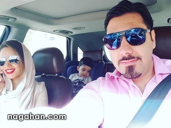 ابراز علاقه احسان خواجه امیری به همسرش در روز سالگرد ازدواج +عکس عروسی احسان خواجه امیری و همسرش