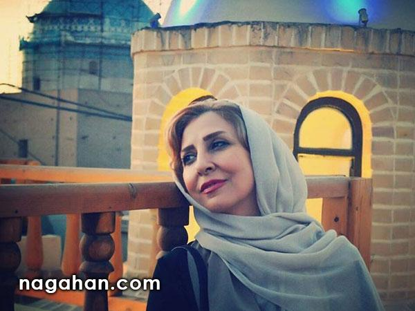 ادای احترام مرجانه گلچین به خانواده علی قانع، آتش نشان فداکار