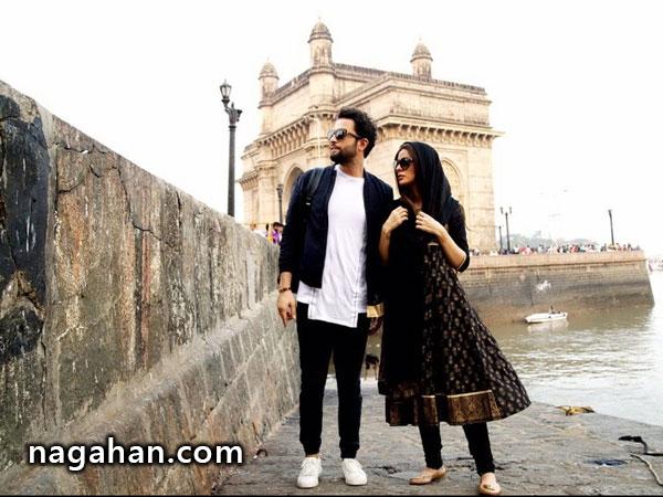 داستان عاشقانه بنیامین بهادری و همسر جدیدش در بمبئی