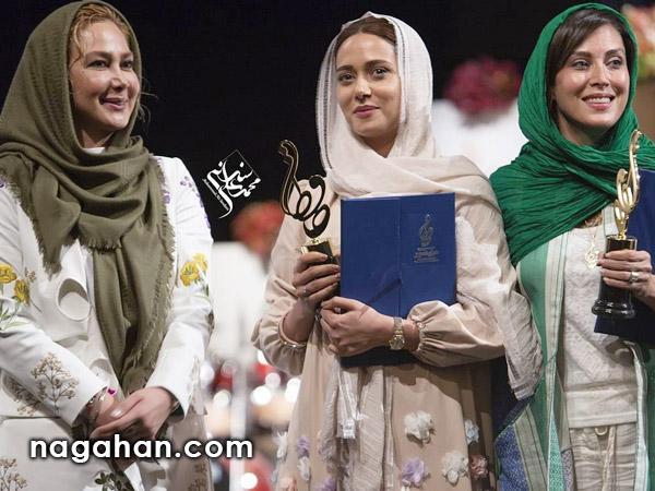 تیپ و مدل مانتو بازیگران زن ایرانی در جشن حافظ 95 + عکس | مدل آرایش - مدل لباس - مدل شال و روسری