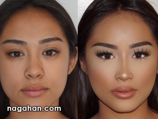 ویدیو آموزشی کوچک کردن بینی با آرایش و گریم | بدون نیاز به عمل و جراحی، بینی خود را زیبا کنید