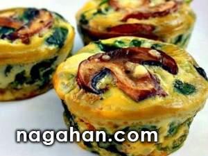 مافین سبزیجات و پنیر|غذای کم کالری ساده و خوشمزه رژیمی برای کاهش وزن و یا گیاهخواران