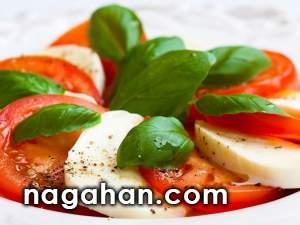 روش تهیه سالاد کاپریس ( Caprices salad ) پیش غذای سالم و آسان ایتالیایی