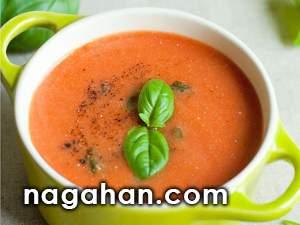روش تهیه سوپ گوجه فرنگی و ریحان | پیش غذای آسان و سریع مخصوص لاغری و کاهش وزن