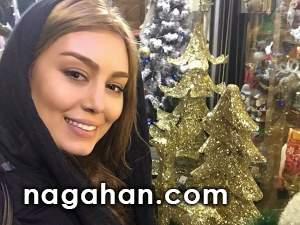 پیام تبریک و عکس جدید سحر قریشی در کنار درخت کریسمس