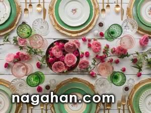 ایده های جدید در سفره آرایی و تزئین میز شام و اتاق پذیرایی
