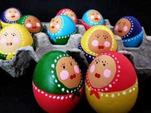 تزیین تخم مرغ ننه نقلی سفره هفت سین