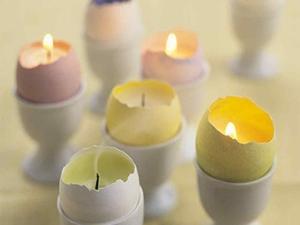 تزیین تخم مرغ شمعی!