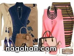 مدل کت و دامن و بلوز دامن مجلسی 95 | جدیدترین ست لباس زنانه و دخترانه ، جواهرات و بدلیجات 2016