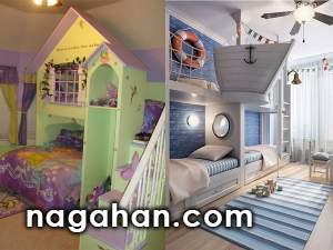 چیدمان و طراحی اتاق کودک |مدل تخت های جدید و متنوع دخترانه و پسرانه در دیزاین اتاق