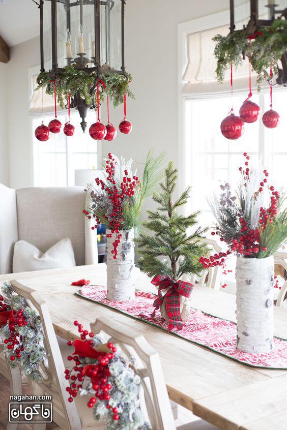 ایده چیدمان میز با شمع شام کریسمس2021 -2