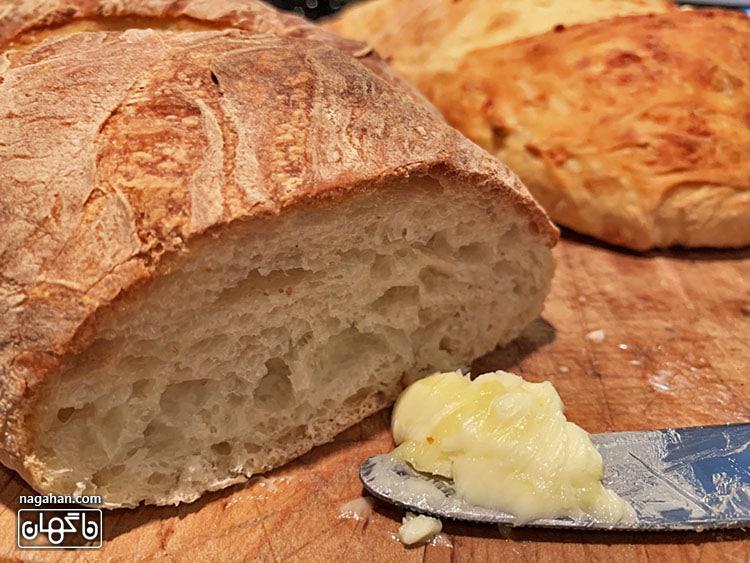 مواد تشکیل دهنده نان ترد خانگی