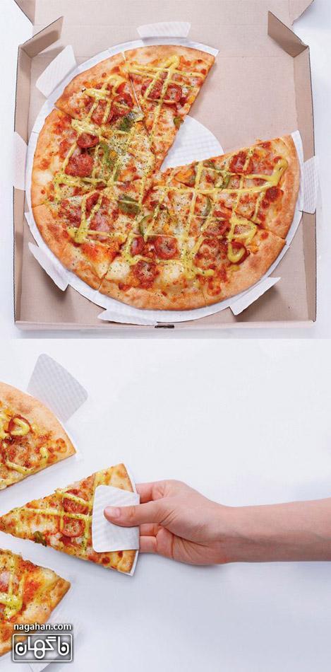 عکس خلاقانه از جعبه پیتزا