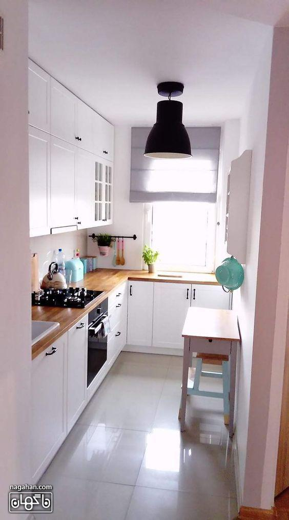 دکوراسیون آشپزخانه کوچک شیک و زیبا