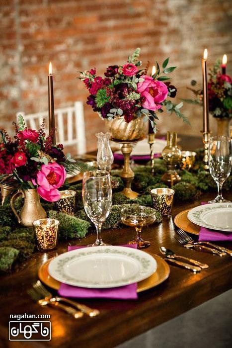 ایده های جدید در سفره آرایی و تزئین میز شام و اتاق پذیرایی 1