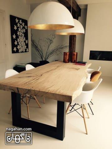چراغ آویز مدرن و جدید برای بالای میز پذیرایی