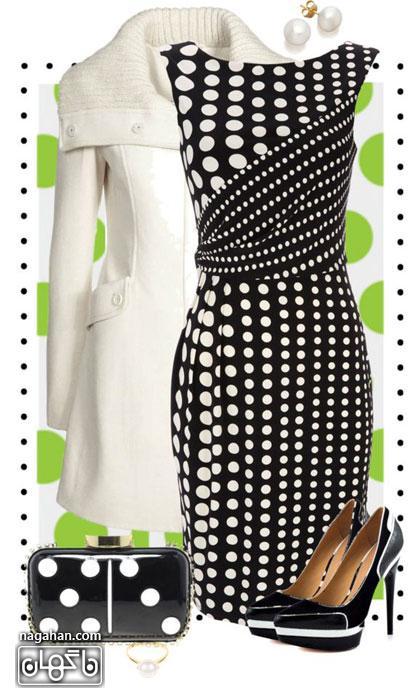 کالکشن جدید مدل ست لباس مجلسی طرح خالدار