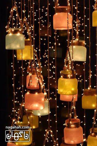 والپیپر زیبا ریسه نور و شمع