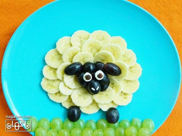 تزیین غذا و میوه کودک