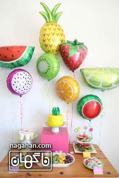 تم تولد میوه با بادکنک های میوه ای