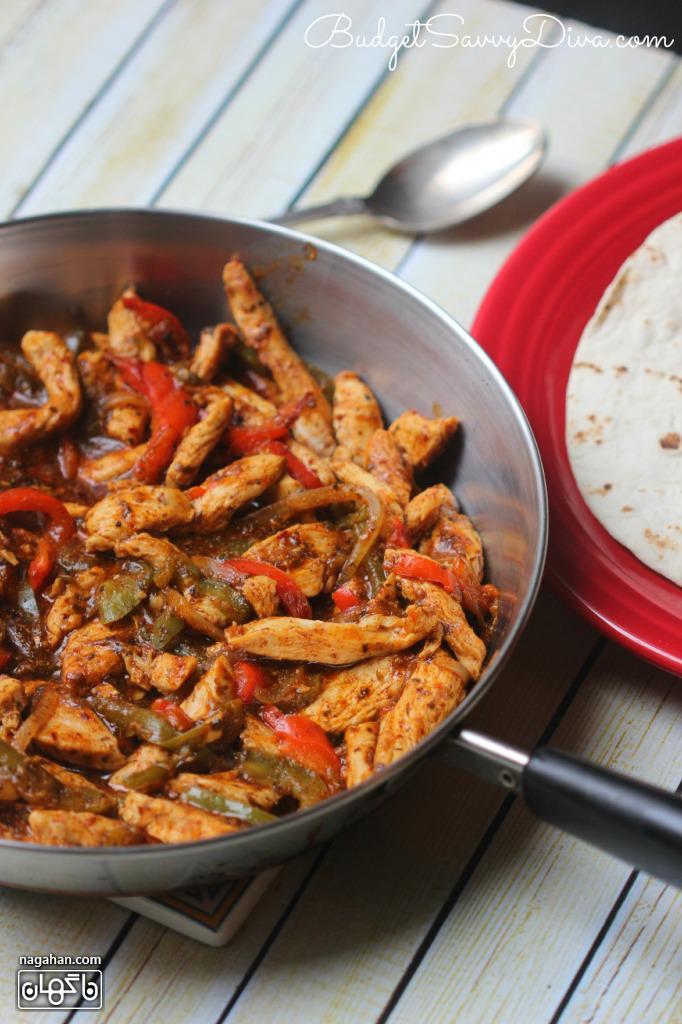آموزش طرز تهیه فجیتا مرغ ، غذای آسان و خوشمزه مکزیکی