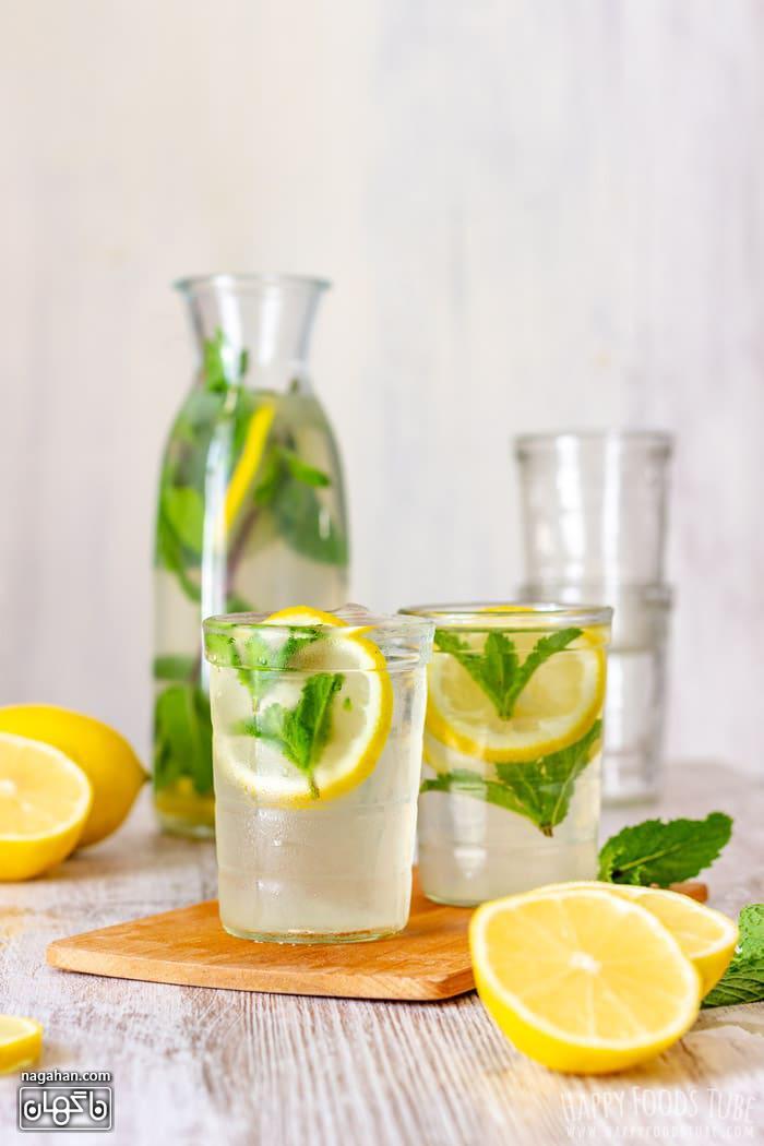 لیموناد نعنا نوشیدنی سالم و جلادهنده قلب در تابستان