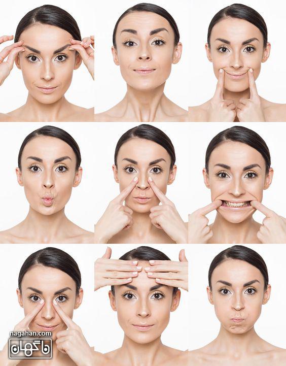 جوان سازی پوست صورت و لاغر کردن آن با تمرینات یوگا