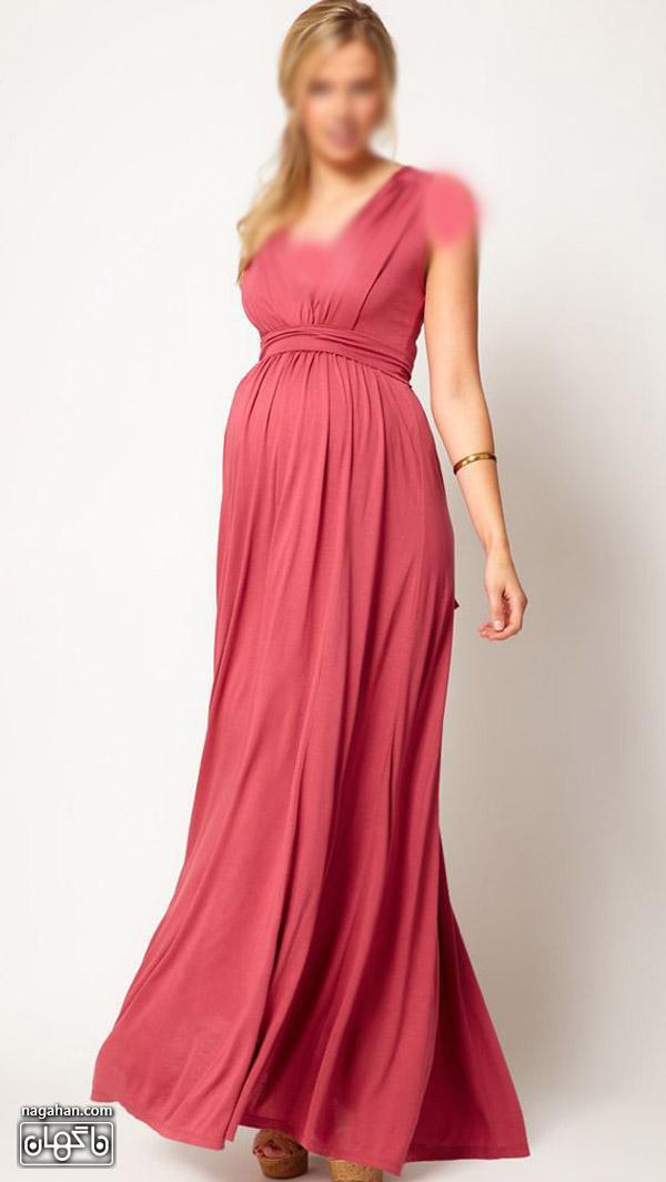 عکس لباس بارداری بلند و رنگ شاد