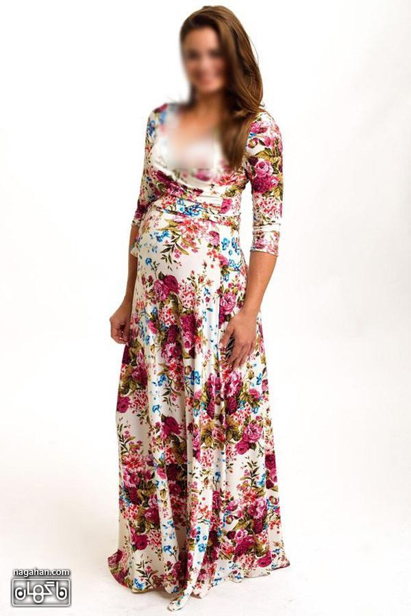 عکس لباس بارداریگلدار بلند