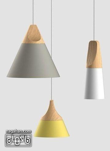 چراغ آویز های رنگ پاستلی شیک