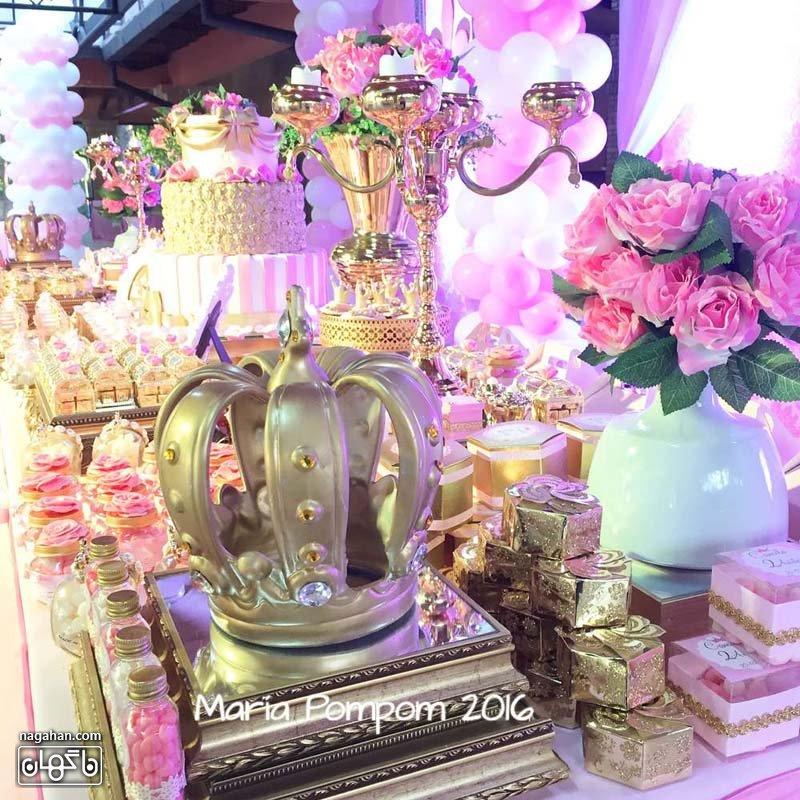 تزئین میز تولد تم پرنسس