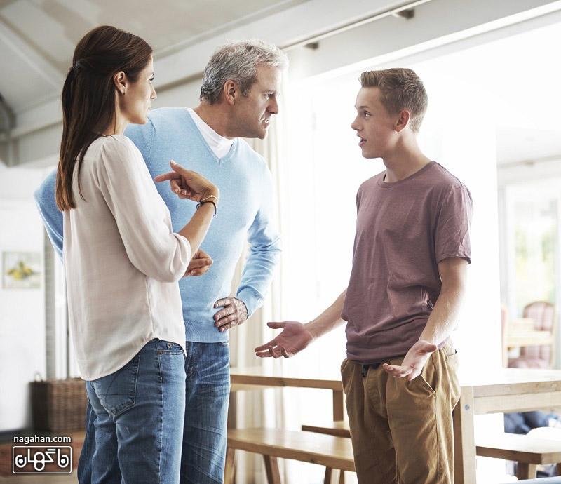 رفتار والدین با فرزند نوجوان