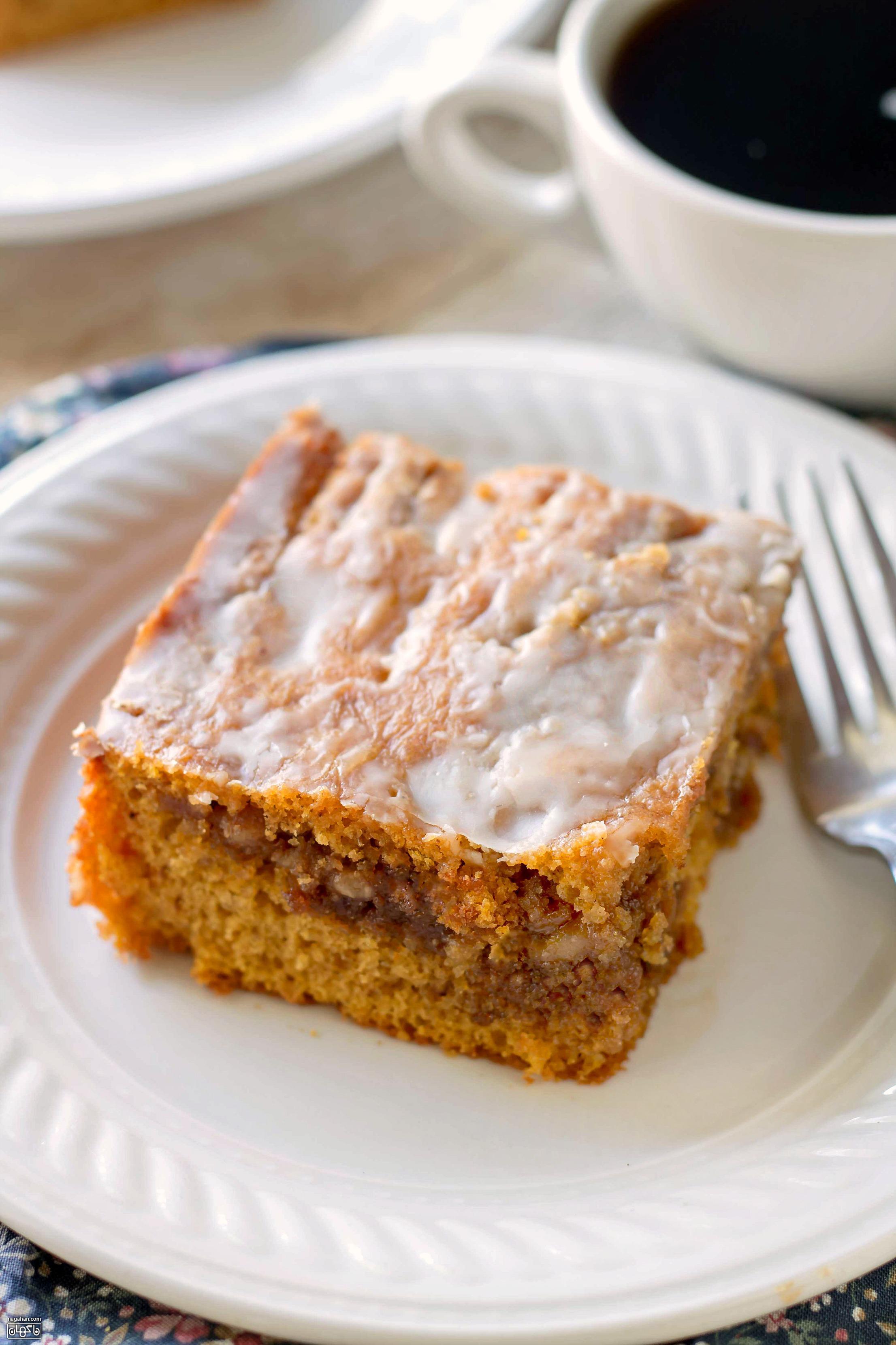 کیک کدو تنبل | آموزش گام به گام و تصویری دسر آمریکایی