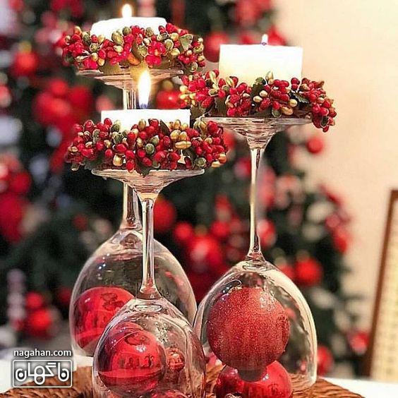 ایده چیدمان میز با شمع شام کریسمس2021