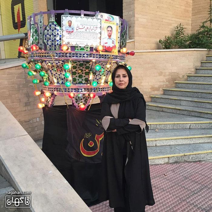 مرجانه گلچین در مراسم یادبود علی قانع