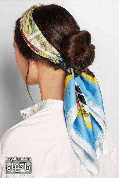 مدل گیس و هدبند دخترانه با روسری جدید