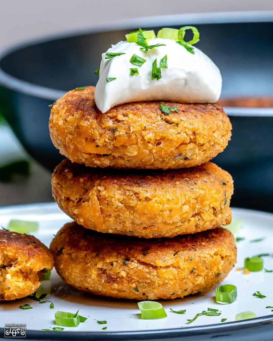 طرز تهیه همبرگر سالمون